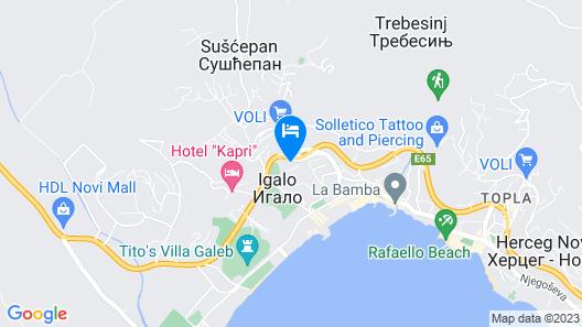Apartmani Niksic Map
