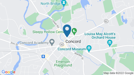 Concord's Colonial Inn Map