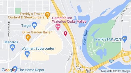 Motel 6 Waterloo, IA - Crossroads Mall - Cedar Falls Map
