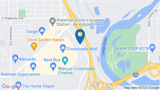 Motel 6 Waterloo, IA - Crossroads Mall - Cedar Falls Map