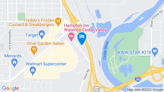 Holiday Inn Express Waterloo Cedar Falls, an IHG Hotel Map