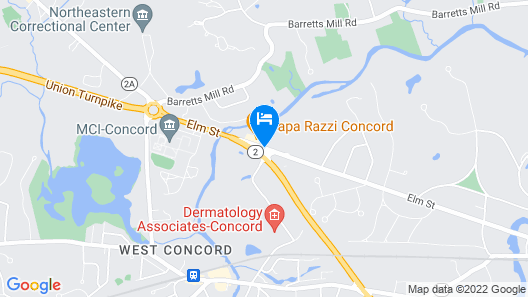 Best Western At Historic Concord Map
