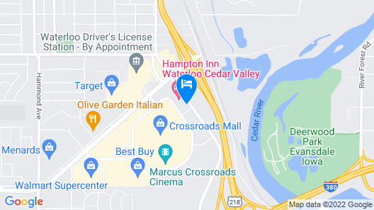 Suburban Extended Stay Hotel Waterloo - Cedar Falls Map