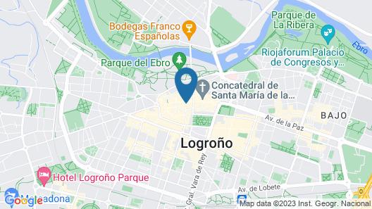 Pensión La Bilbaina - Albergue Logroño Map