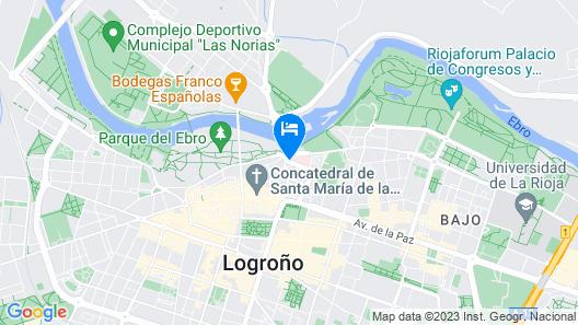 F&G Logroño Hotel Map