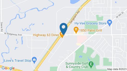 Howard Johnson by Wyndham Waterloo/Cedar Falls Map