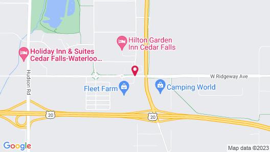 Super 8 by Wyndham Cedar Falls IA - University Map