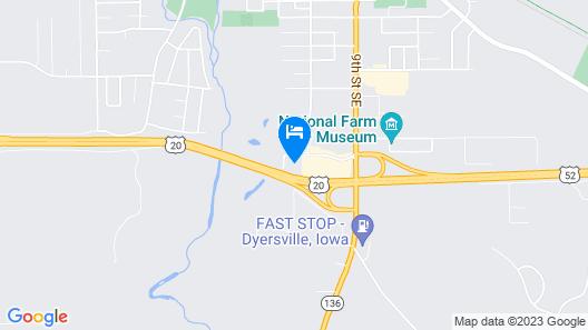 Comfort Inn Dyersville, Iowa Map