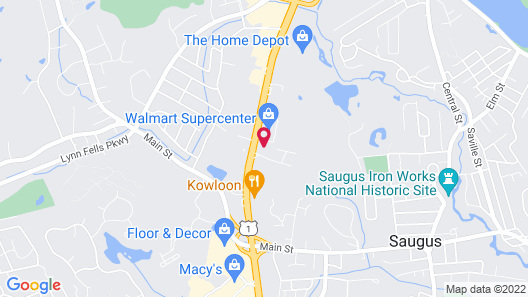 WoodSpring Suites Boston North Map