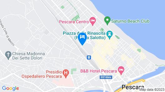 G Hotel Pescara Map