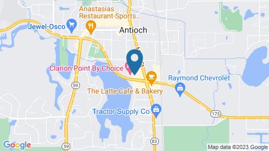 Best Western Plus Antioch Hotel & Suites Map