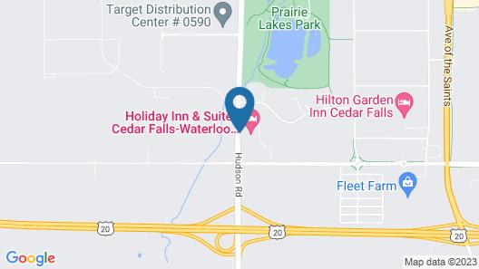Holiday Inn & Suites Cedar Falls - Waterloo Event Ctr, an IHG Hotel Map