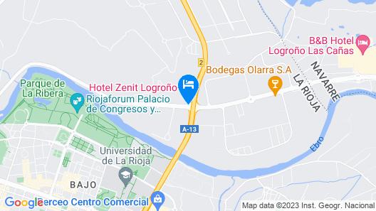 Hotel Zenit Logroño Map