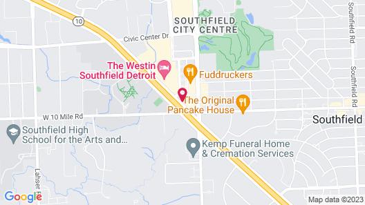 Holiday Inn Express Southfield-Detroit, an IHG Hotel Map