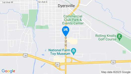 Colonial Inn Dyersville Map