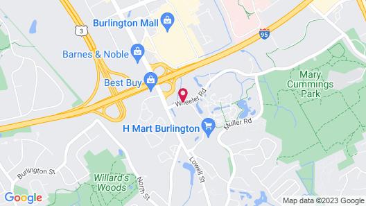 Hilton Garden Inn Boston/Burlington Map