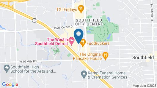 The Westin Southfield Detroit Map