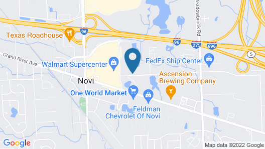 Sonesta Select Detroit Novi Map