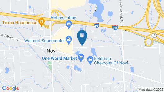 Sonesta Simply Suites Detroit Novi Map