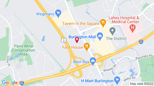 Extended Stay America - Boston - Burlington Map