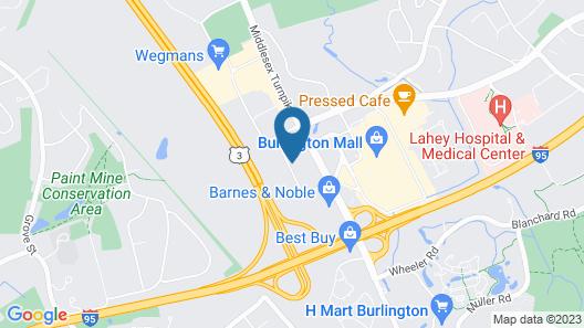 Extended Stay America Suites Boston Burlington Map