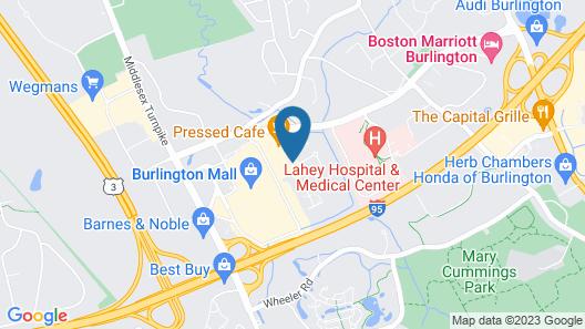 Residence Inn by Marriott Boston Burlington Map