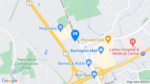 Sonesta Simply Suites Boston Burlington Map