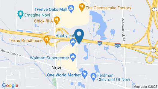 DoubleTree by Hilton Detroit - Novi Map