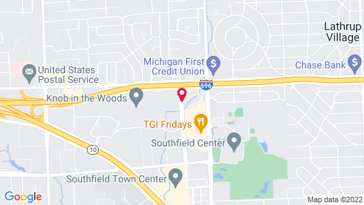 Hawthorn Suites by Wyndham Detroit Southfield Map