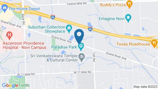 Hyatt Place Detroit/Novi Map