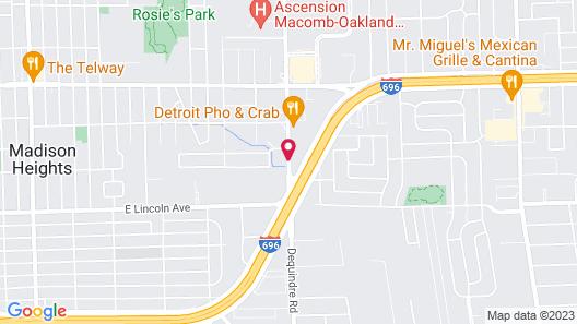 Red Roof Inn Detroit - Warren Map