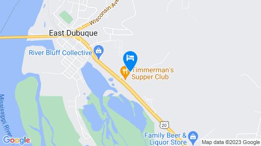 Quality Inn East Dubuque Map