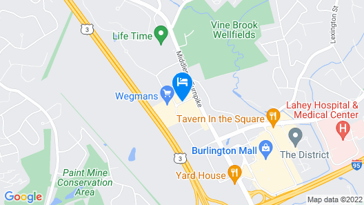 Archer Hotel Boston/Burlington Map