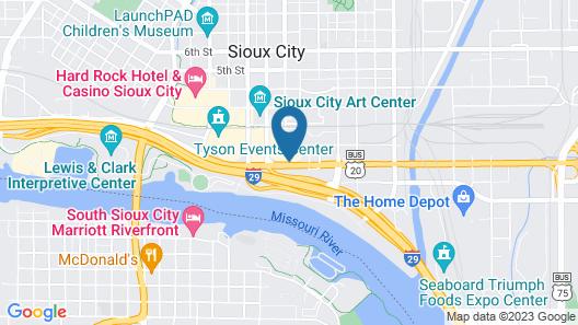 Holiday Inn Sioux City Map