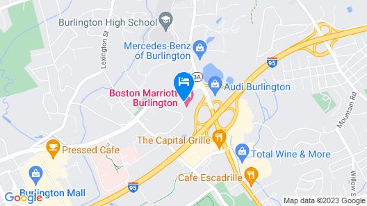 Boston Marriott Burlington Map