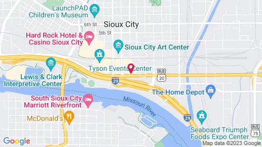 Riverside Plaza Hotel Map