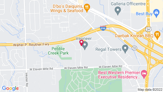 Extended Stay America - Detroit - Southfield Map