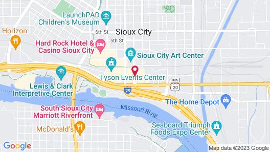 Ramada by Wyndham Sioux City Map