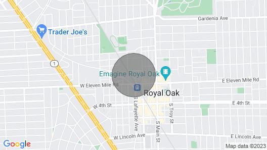 Downtown Royal Oak Luxury Apartment Map