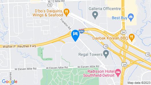 Hilton Garden Inn Detroit - Southfield, MI Map
