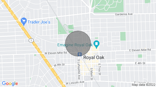 Luxury Downtown Royal Oak Furnished Apartment Map