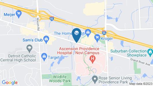 Staybridge Suites Detroit Novi Map
