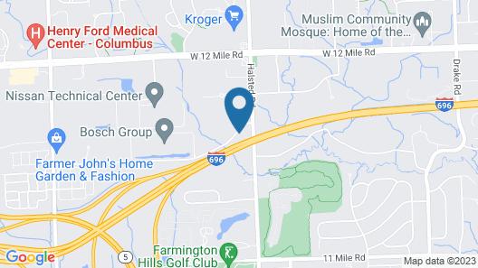 MainStay Suites Detroit Farmington Hills Map