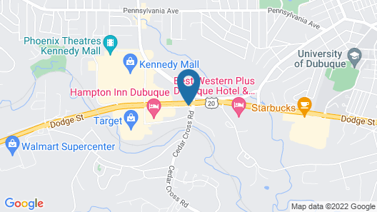 Best Western Plus Dubuque Hotel & Conference Center Map