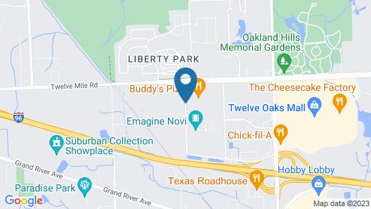 Residence Inn by Marriott Detroit Novi Map
