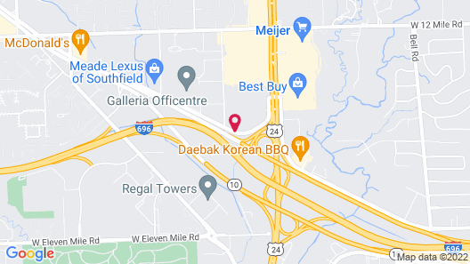 Red Roof Inn Detroit - Southfield Map