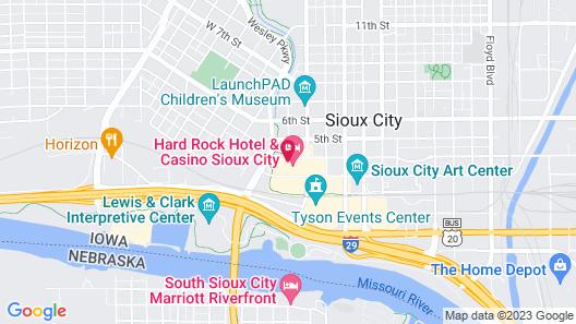 Hard Rock Hotel & Casino Sioux City Map