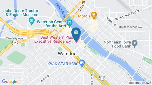 Best Western Plus Executive Residency Waterloo & Cedar Falls Map
