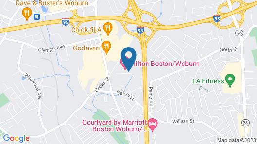 Hilton Boston/Woburn Map