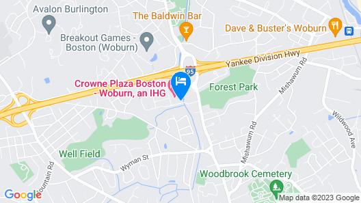 Crowne Plaza Boston - Woburn, an IHG Hotel Map